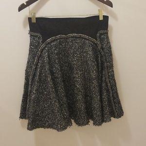 Zac Posen Black wool skirt